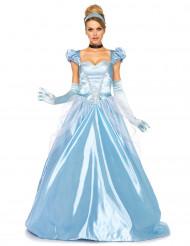 Naisten naamiaisasu prinsessan sininen mekko