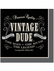 Servetit 16kpl, Vintage Dude