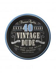 Jälkiruokalautaset 8kpl Vintage Dude 40