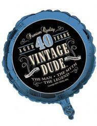 Foliopallo 40-vuotiaalle Vintage Dude