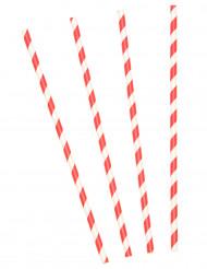 Kartonkiset puna-valkoraidalliset pillit 10 kpl