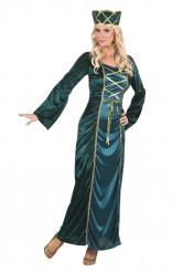 Keskiaikainen vihreä kuningatar -asu naisille