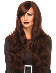 Luksus brunetti - Naisten pitkä ruskea peruukki