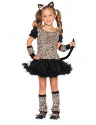 Leopardin naamiaisasu tytölle