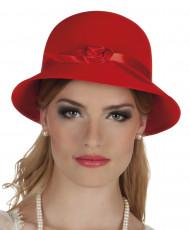 Punainen 20-luvun hattu naiselle