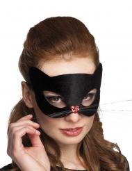 Kissan musta puolinaamio naisille - sis. sydämenmallisen nenän