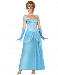 Satuprinsessan sininen mekko naisille