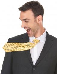 Kullanvärinen paljettikoristeltu kravatti aikuisille