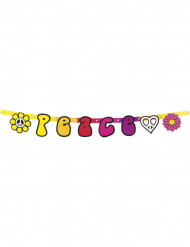 Koristeellinen Hippie Flower Power -viirinauha - 95 cm