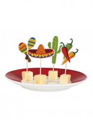 Meksiko-teemaiset cocktailtikut - 12 kpl