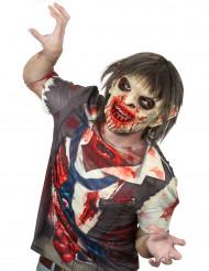 Lateksinen zombien naamari hiuskilla aikuiselle halloween