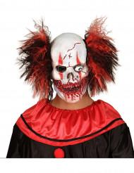 Verisen klovnin lateksinen naamari aikuiselle halloween