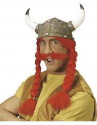 Gallialainen asustesetti miehille - sis. sarvikypärän, lettikampauksen ja viikset