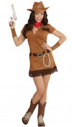 Hurmaava cowgirl- asu