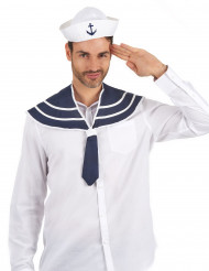 Merimiehen hattu ja kaulus aikuiselle
