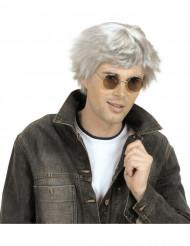 Lyhyt harmaa peruukki aikuisille