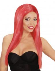 Pitkä punainen naisen peruukki