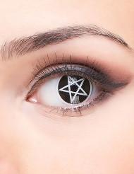 Pentagrammi- piilolinssit aikuiselle halloween