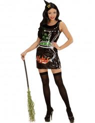Paljettinoidan naamiaisasu naiselle halloween