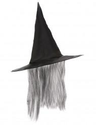 Noidan hattu harmailla hiuksilla