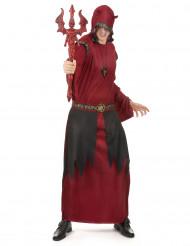 Punaisen satanistisen kreivin naamiaisasu miehelle halloween