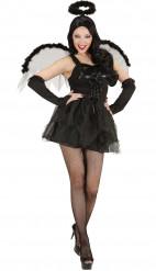Naisten Halloween musta enkeli asu