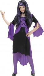 Violetti vampyyrimekko lapselle halloweeniin