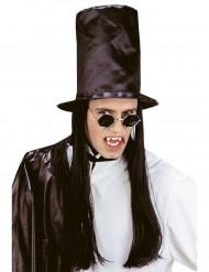 Vampyyrikreivin hattu pitkillä hiuksilla