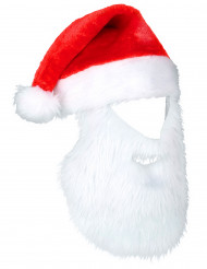 Joulupukin lakki parralla aikuisille