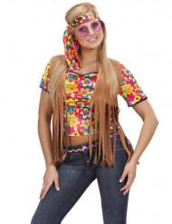 Ruskea naisen hippiliivi