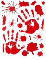 Veriset kädenjäljet ikkunatarrat