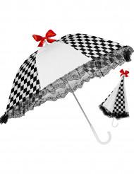 Musta-valkoruudullinen päivänvarjo