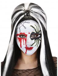 Valkoinen koristeltu Halloween-naamari