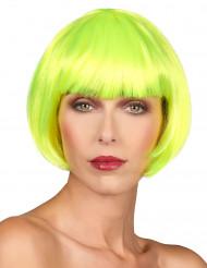Naisten neonkeltainen lyhyt peruukki