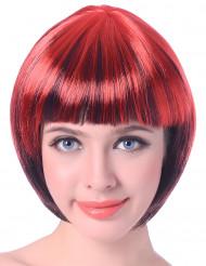 Naisten lyhyt punamusta peruukki