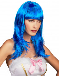 Sininen peruukki otsotukalla