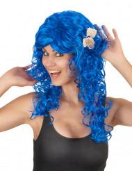 Merenneidon peruukki simpukoilla, sininen