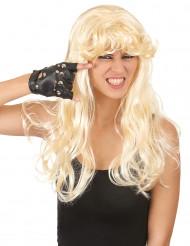 Naisten peruukki Pitkät vaaleat hiukset otsatukalla