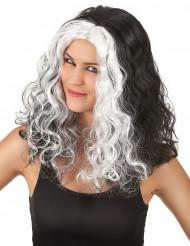 Naisten mustavalkoinen peruukki