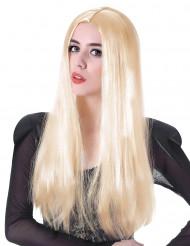 Naisten pitkä vaalea peruukki 60cm