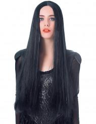 Pitkä musta peruukki naisille - 75 cm