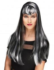 Rouva vampyyri - Mustavalkoinen peruukki