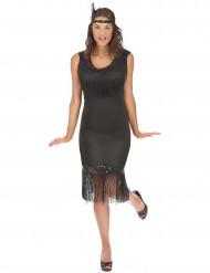 Musta charleston mekko hapsuilla - 1920-juhliin