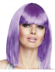 Naisten peruukki puolipitkillä violeteilla hiuksilla