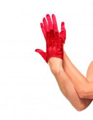 Punaiset hansikkaat naiselle