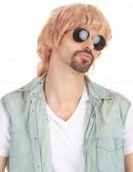 Miesten peruukki vaalea takatukka