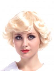 Naisten vaalea peruukki Vintage