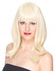 Naisten vaalea peruukki, luxury