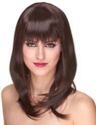 Naisten Premium-peruukki puolipitkillä punaisenruskeilla hiuksilla - 170 g