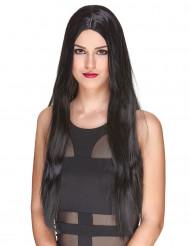 Naisten peruukki Pitkät mustat hiukset